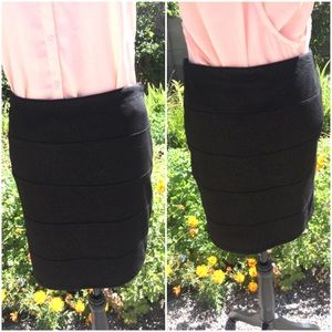 Rock & Republic Black with Gold Sparkles Skirt